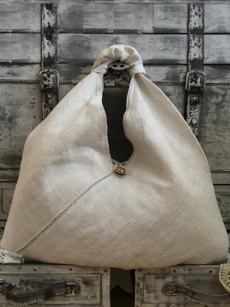 Veľká ľanová taška 54x54 cm   kikasa - SAShE.sk - Handmade Nákupné tašky b1fb49db0f7