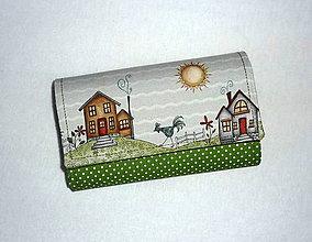 Peňaženky - Peňaženka - Na vidieku - zelená. - 7023288_