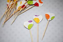 Dekorácie - Napichovátka - candy bar (bodky) - 7025319_