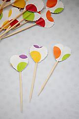 Dekorácie - Napichovátka - candy bar (bodky) - 7025320_