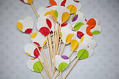 Dekorácie - Napichovátka - candy bar (bodky) - 7025321_