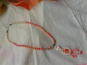 Detské doplnky - detský náhrdelník losos - 7025745_