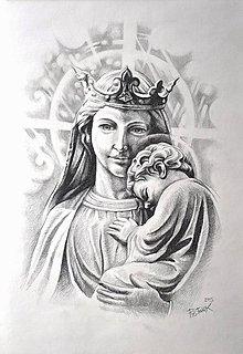 Obrazy - Madona- štúdia sochy - 7024569_