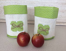 Košíky - textilný košík - jabĺčkový - 7025535_