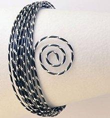 Komponenty - Drôt s diamantovým efektom Čierna - 7026145_