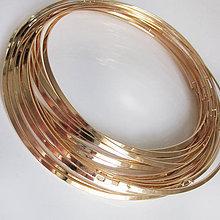 Komponenty - Náhrdelník Obruč (Plochá - zlatá farba) - 7026437_