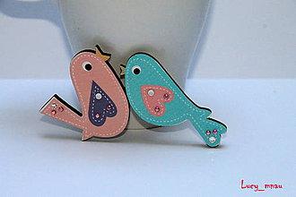 Odznaky/Brošne - Brošnička vtáčik-letáčik :) - 7026363_