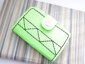 Peňaženky - Obal na doklady - Folk green - 7024434_