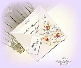 Papiernictvo - Orchidea pre maminku... - 7025154_