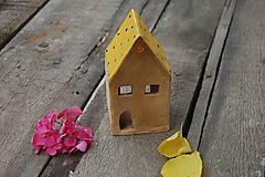 Dekorácie - Domček bodkatý - 7025473_
