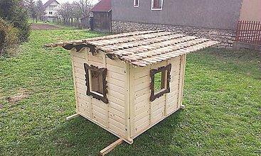 Nábytok - Veľký záhradný drevený domček - 7025606_