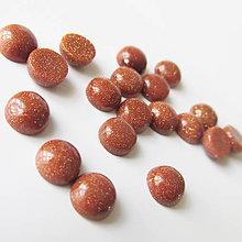 Minerály - Kabošon / 6mm (Slnečný kameň červený synt.) - 7028686_
