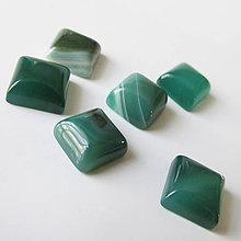 Minerály - Kabošon / štvorec 8x8mm (Achát zelené odtiene) - 7028723_