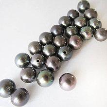 Minerály - Perla sladkovodná poloprevŕtaná (peacock guľaté / 4-5mm) - 7029179_