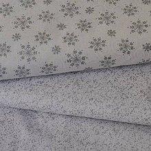 Textil - Biela so striebornými vločkami - 7027260_