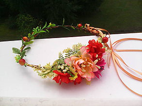 """Ozdoby do vlasov - Kvetinový venček do vlasov """"...farby leta..."""" - 7027298_"""