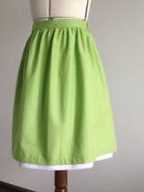 Sukne - Zlacnená!!! bodkovaná suknička - 7027550_