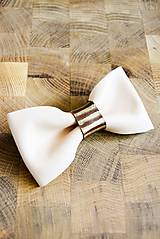 Doplnky - All leather... Bow Tie... #2... Natural - 7028395_