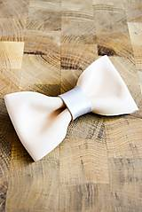 Doplnky - All leather... Bow Tie... #3... Natural - 7028410_