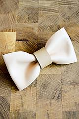 Doplnky - All leather... Bow Tie... #8... Natural - 7028537_