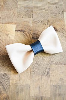 Doplnky - All leather... Bow Tie... #1... Natural - 7028381_