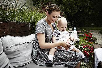 """Šaty - Rodinné oblečenie mama a dcéra """"Lupienky farby flamingo"""" - 7029477_"""