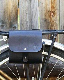 "Taštičky - Kožená taštička na bicykel ""Leather Bag BLACK"" - 7027902_"