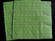 Papier - zelená servítka s kvetinkami - 7029366_