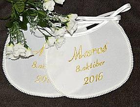 Iné doplnky - svadobné podbradníky-vyšívané - 7027964_