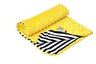 Textil - Minky deka celoročná 100x75cm žltá - 7027406_
