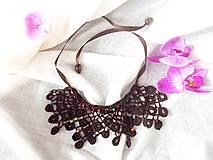 Náhrdelníky - Háčkované náhrdelník Indiánske leto - 7029096_