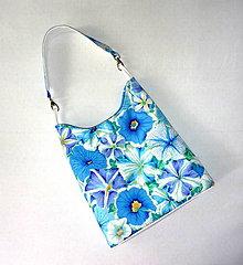 Kabelky - Kabelka - Modrý kvet. - 7027245_