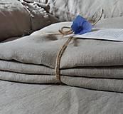 Úžitkový textil - Ľanová plachta na posteľ - 7029391_