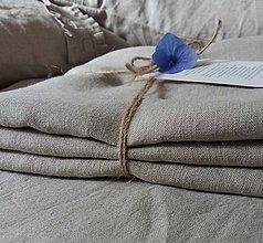 Úžitkový textil - Ľanová plachta na posteľ (136x246 cm - Biela) - 7029391_