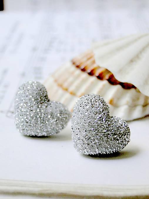 b37ce9910 Sweet Hearts Silver / Napichovacie náušnice srdiečka strieborné  (Chirurgická oceľ)
