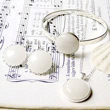 Sady šperkov - White Jade & Silver Set / Set šperkov s bielym jadeitom v striebornom prevedení - 7032355_