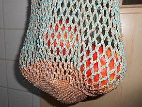 Nákupné tašky - Sieťovka mentolka - 7030895_