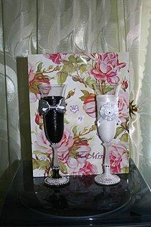 Nádoby - Svadobné poháre - Mr.&Mrs. - 7032196_
