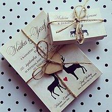 Darčeky pre svadobčanov - Svadobné oznámenie + pozvánka - 7031518_
