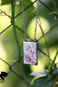 Sady šperkov - Set s ružami - náhrdelník + náušnice - 7031647_