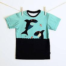 4b70266e56cd Detské oblečenie - Triko s krátkym rukávom žralok (vel. 98-134) -
