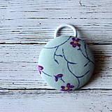 Detské doplnky - DETSKÁ gumička do vlasov Slivkový kvet - 7032830_