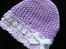Detské čiapky - fialová čiapočka - 7031129_