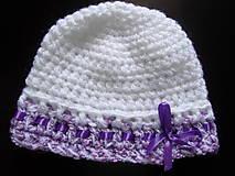 Detské čiapky - biela čiapočka - 7031174_