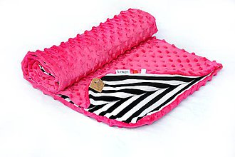 Textil - Minky deka celoročná 100×75cm cyklamén - 7030098_