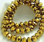 Brúsené sklenené korálky zlaté