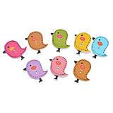 - Drevené gombíčky vtáčiky (balíček 5ks) - 7031560_