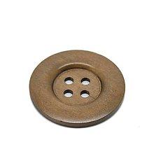Galantéria - Extra veľký drevený gombík 5cm - 7031394_