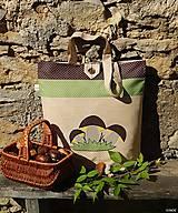 Nákupná taška - tri hríbiky
