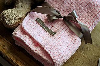 Textil - Mäkučká deka pre bábätko ružová - 7031666_